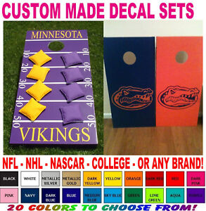 CUSTOM MADE CORNHOLE BOARD VINYL DECAL SETS STICKERS FOR BOARDS - Custom vinyl decals minnesota