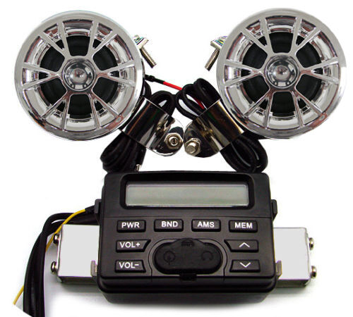 Motorcycle Audio Handlebar Radio Stereo Amplifier Speaker for CB Shadow VStar XS