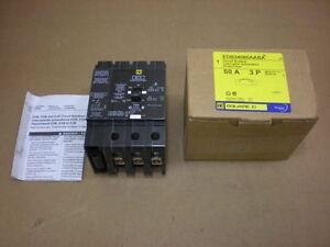 1-NIB-SQUARE-D-EDB34060AABA-EDB-60-AMP-3-POLE-480-VAC-CIRCUIT-BREAKER