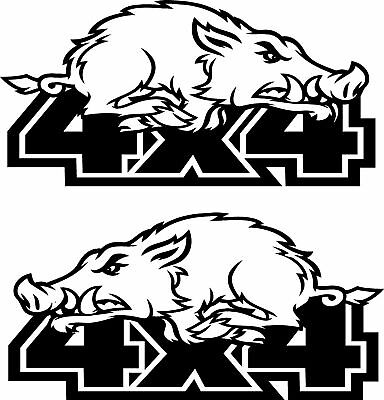 4x4 off road 4wd decals pair PIGS HOGS left & right set YOU GET BOTH