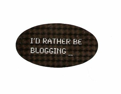I'D RATHER BE BLOGGING Tumblr Fun Holographic Sticker