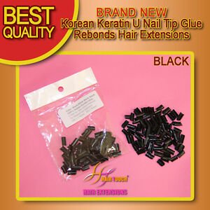 Korean-Keratin-U-Nail-Tip-Glue-rebonds-Hair-Extension-plz-email-color-choice