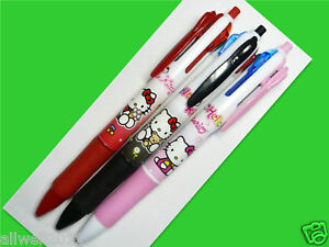 3X-Hello-Kitty-Multi-Color-Ball-Point-Pen-4-colors-in-1-School-Stationery-D001