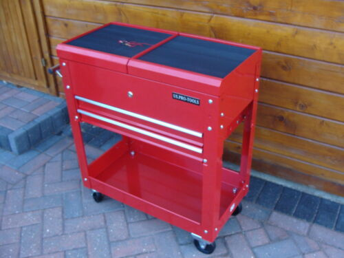 57 US PRO TOOLS TOOL CART TROLLEY WORKSTAION BOX RED