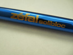 Zefal Frame Pump Blue Solibloc Alloy W/ Hose Vintage Racing Bicycle NOS