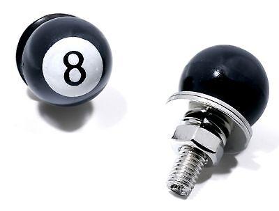 Kennzeichen Schrauben Schwarz 8-Ball Black Motorrad Bike Trike Nummernschild