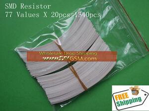 77ValuesX20pcs-1206-SMD-SMT-Resistor-Assortment-Kit