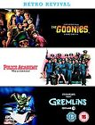 Retro Revival - The Goonies/Police Academy/Gremlins (DVD, 2006, 3-Disc Set, Box Set)