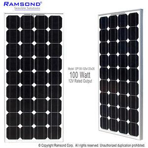 Ramsond-100-W-Watts-100W-100Watts-Photovoltaic-PV-Solar-Panel-Module-12V-RV-Boat