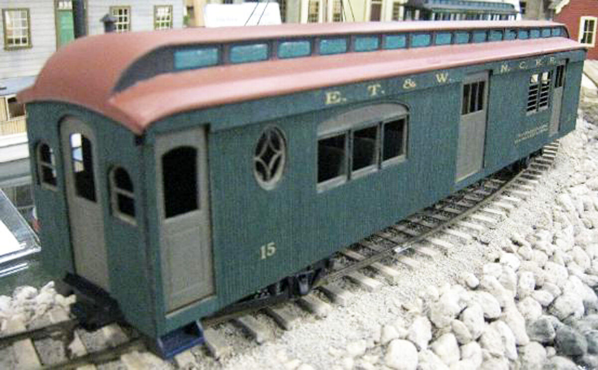 ET&WNC 46 FT CLOSED VESTIBULE COMBINE Railroad On30 Kit-Basher Unptd Kit DFT15L