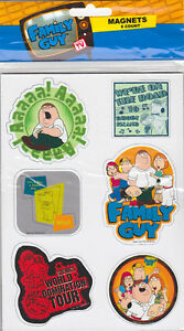 FAMILY-GUY-6-CT-MAGNETS-SET-Refrigerator-Fridge-TV-Show-Peter-Stewie-Griffin-NEW