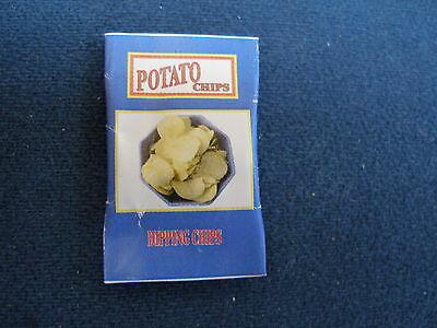 DOLLHOUSE MINIATURE PACKET POTATO CHIPS-CRISPS-DOLL FOOD & DRINK FOR KITCHEN