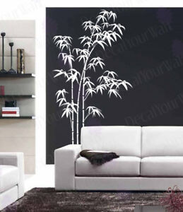 Image is loading Bamboo-Wall-Decal-Large-Tree-Decals-Living-Room-