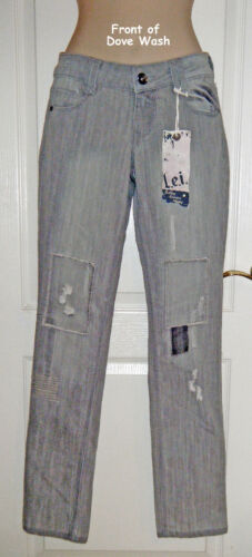JR SIZES 1 3 9 l.e.i NWT $20 - SKINNY JEANS – LOW RISE DISTRESSED /& FADED