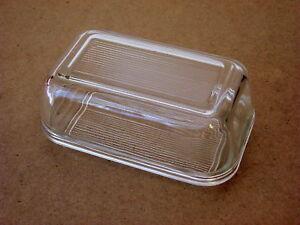 Butterdose-Glasbutterdose-temperiertes-Glas-geriffelt-Luminarc-aus-Frankreich