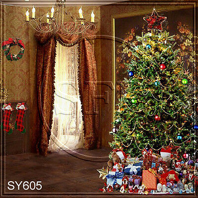 Christmas 8'x8'Computer-painted Indoor Scenic Photo background backdrop SY605B11