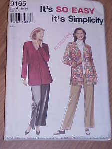 SIMPLICITY-9165-MISSES-PANTS-TOP-SZ-10-20-ITS-SO-EASY
