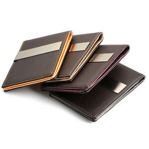 Carbon-Pattern-Glitter-Money-Clip-Wallet-Card-Holder-Laser-Engraving-FREE