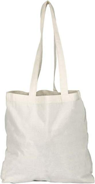 3 PACK TOTE SHOPPER BAGs - 100% COTTON 4 COLOURS REUSABLE COTTON TOTES