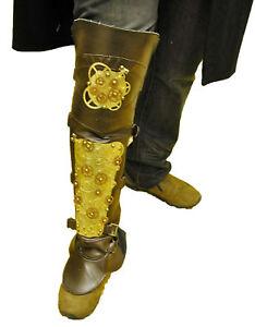 Mens-Steampunk-Leg-armour-sheild