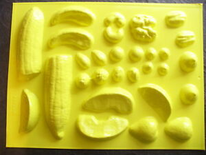 Candle-Mold-Fruits-Nuts-amp-Candy-Banana-Berry-Fruit-Drop-Peach-Strawberry-Pecan
