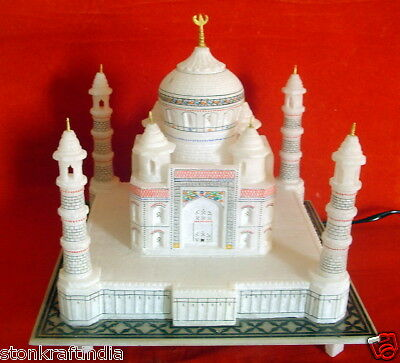 "12"" Indian Collectible Souvinir Marble Taj Mahal / Tajmahal Replica Home Decor"