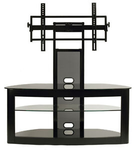 transdeco tv stand w universal mount 40 50 55 60 65 70 80 inch lcd led tv new. Black Bedroom Furniture Sets. Home Design Ideas