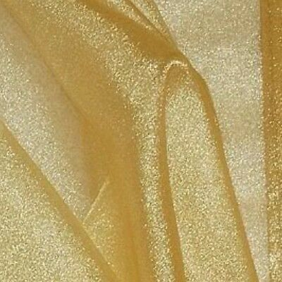 "GOLD SPARKLE ORGANZA FABRIC 60"" 3 YDS"