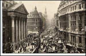 ENGLAND-1910-20-LONDON-Bus-Auto-Mansion-House-Cheapside