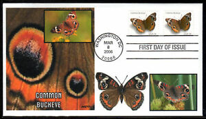 JVC-CACHETS-06-BUTTERFLIES-COMMON-BUCKEYE-FDC-4-MADE