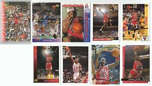 Michael-Jordan-UD-He-039-s-back-9-Card-Complete-Basketball-Trading-Set-lot