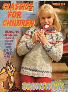 Brunswick-Classics-Children-039-s-Sweaters-1982-Vol-835-Knitting-Patterns