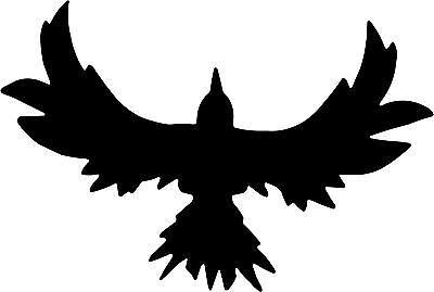 "Crow Raven Bird Decal 3.75""x5.55"" choose color! vinyl sticker"