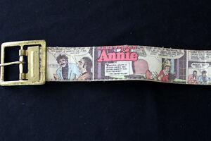 COLLECTABLE-1960-039-S-LITTLE-ORPHAN-ANNIE-COMIC-BOOK-PLASTIC-BELT-SZ-26-034-30-034-WAIST