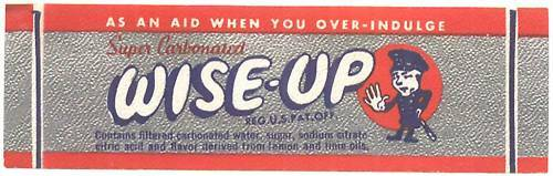 Lot of 10 - c1930s/40s WISE-UP Soda paper label with Cop! New Old Stock