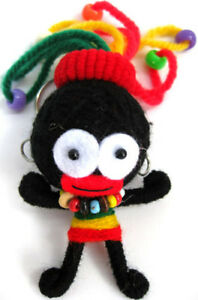 Handmade-RASTA-REGGAE-MUSIC-Voodoo-Worry-Doll-Keyring