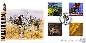 7-SEPTEMBER-1999-FARMERS-TALE-SCARCE-BRADBURY-LE-FIRST-DAY-COVER-FDC-SHS