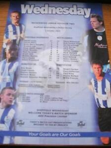 01-10-2003-Colour-Teamsheet-Sheffield-Wednesday-v-Nott