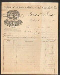 MAUBEUGE-59-MACHINES-a-BOIS-CONSTRUCTIONS-MECANIQUES-034-PESANT-Freres-034-en-1893