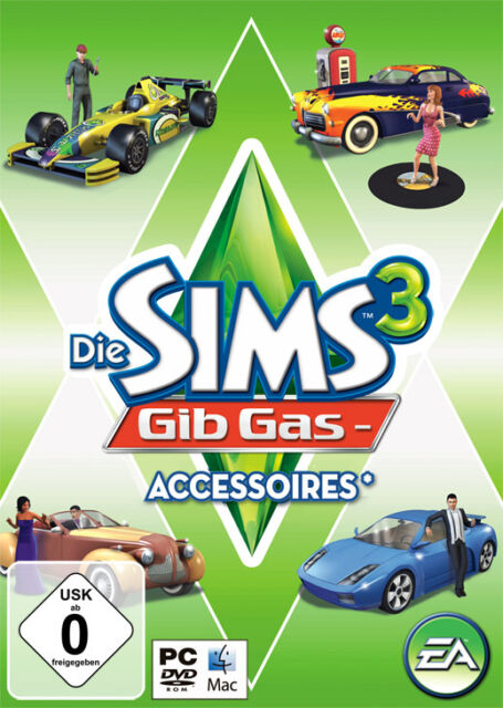 Die Sims 3 Gib-Gas-Accessoires Add-On PC Download EA Origin CD Key *NEU*
