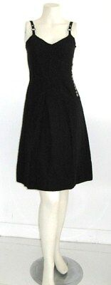 MARC JACOBS EYELET DRESS BLACK COTTON Vintage 1990's Size 2