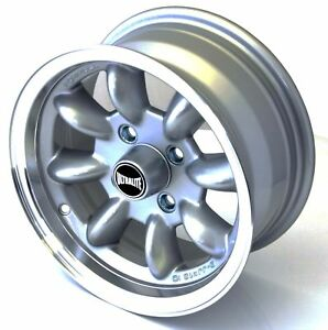 FORD-ESCORT-MK1-MK2-ALLOY-WHEELS-13-034-6J-ET10-4x108-SILVER-LIP-RIMS-Z1100