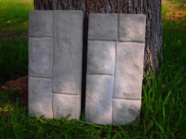 2 New Paver Stone Plastic Molds Concrete/Plaster