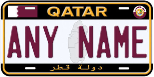 Quatar Aluminum Any Name Personalized Car Auto Tag Novelty License Plate A1
