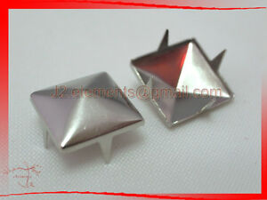 Silver-Pyramid-Studs-Rock-Design-spikes-spots-heavy-duty-DIY-Leathercraft-Access