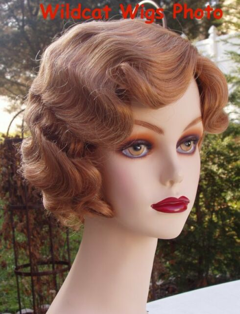 FINGERWAVE Wig 1930's Rose EXCLUSIVE GINGER! Finger Wave Downton Abbey FLAPPER *