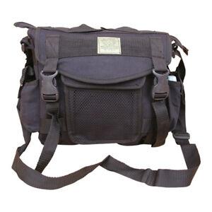 Mens-Travel-Army-Combat-Canvas-Messenger-US-Shoulder-Satchel-Sports-Bag-Black
