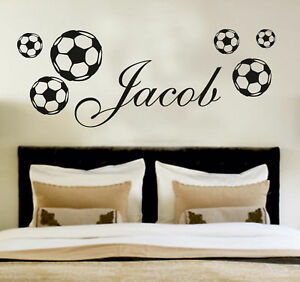 Your-Name-Personalised-Wall-Art-Stickers-Kids-Football-Girls-Boys-Soccer