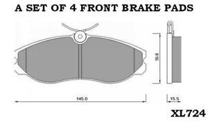 FORD-MAVERICK-MK1-2-4-2-7-D-8v-12v-FRONT-BRAKE-PADS