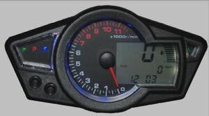 Universal-Motorcycle-Speedometer-Tachometer-Odometer-Clock-Fuel-LCD-Gauge